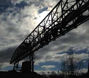 Crane silhouette in Bethlehem, Lehigh Valley, PA