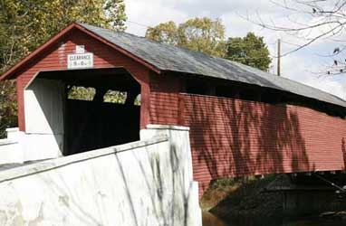 Rex Covered Bridge is a historic wooden covered bridge located in North Whitehall Township. It is a 150-foot-long Burr Truss bridge constructed in 1858.